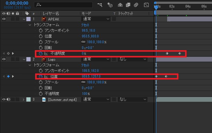 After Effects 応用編集